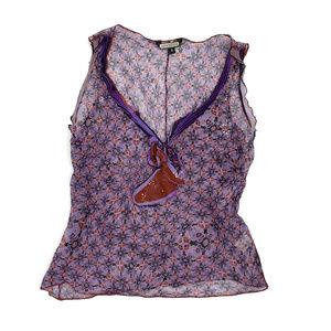 Rozae Nichols 100% Sheer Silk Blouse